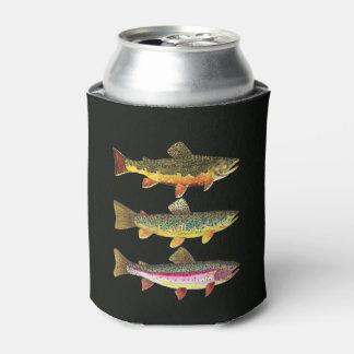 Pesca de la trucha enfriador de latas