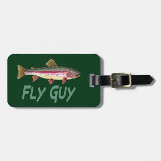 Pesca de la trucha etiquetas bolsa