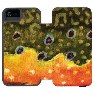 Pesca de la trucha funda billetera para iPhone 5 watson