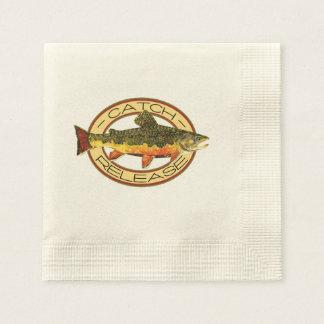 Pesca de la trucha servilleta desechable