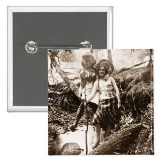 Pesca de la trucha - tarjeta de Stereoview del vin Pin