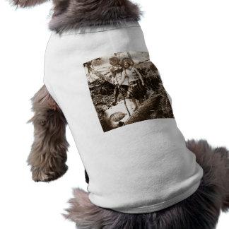 Pesca de la trucha - tarjeta de Stereoview del vin Camisas De Perritos