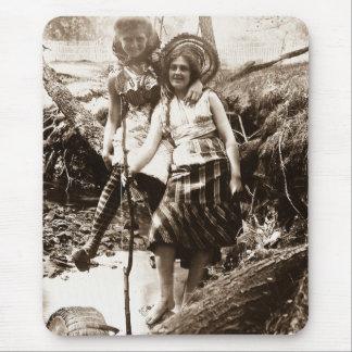 Pesca de la trucha - tarjeta de Stereoview del vin