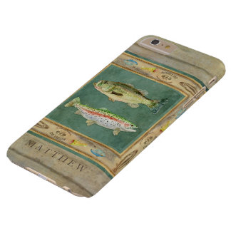 Pesca de lago, bajo grande de la boca, trucha arco funda barely there iPhone 6 plus