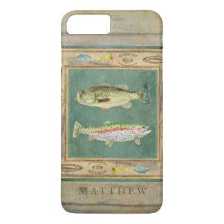 Pesca de lago, bajo grande de la boca, trucha arco funda iPhone 7 plus