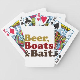 Pesca de los barcos y del cebo de la cerveza cartas de juego