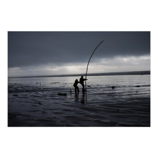 Pesca de los pares posters