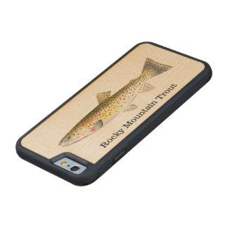 Pesca de los pescados de la trucha de la montaña funda de iPhone 6 bumper arce