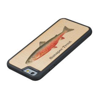 Pesca de los pescados de la trucha de Sunapee Funda De iPhone 6 Bumper Arce
