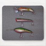 Pesca de los señuelos Mousepad Alfombrilla De Raton