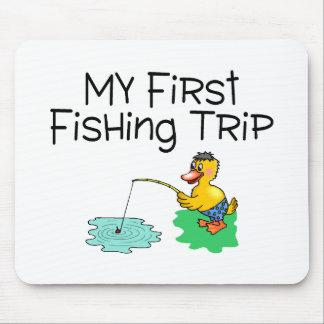 Pesca de mi primer viaje de pesca alfombrillas de raton