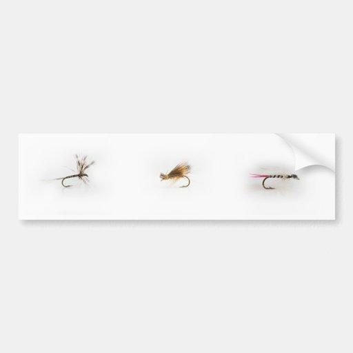 Pesca de moscas etiqueta de parachoque