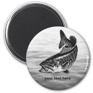 Pesca de perca canadiense imán redondo 5 cm