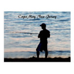 Pesca de resaca en Cape May en la postal de la
