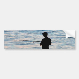Pesca de resaca en la pegatina para el parachoques pegatina para auto