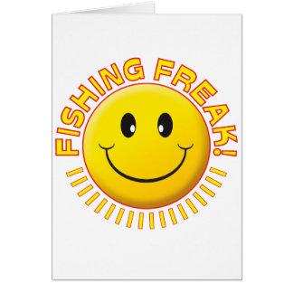 Pesca de sonrisa anormal tarjeta de felicitación