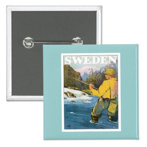 Pesca de Suecia Pin Cuadrada 5 Cm