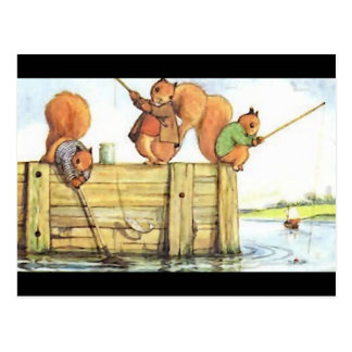 Pesca de tres ardillas