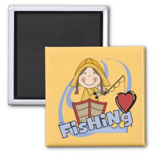 Pesca del amor - camisetas y regalos del chica iman de frigorífico