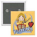 Pesca del amor - camisetas y regalos del chica pins