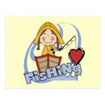 Pesca del amor - camisetas y regalos del chica postales