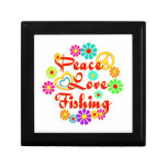 Pesca del amor de la paz caja de regalo