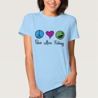 Pesca del amor de la paz camisas
