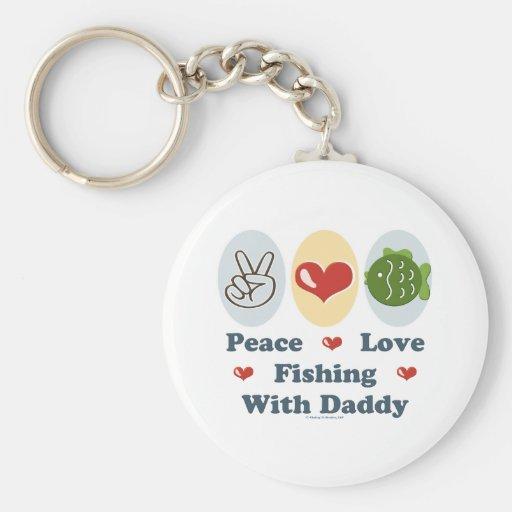Pesca del amor de la paz con el llavero del papá