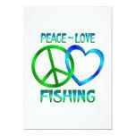 PESCA del amor de la paz Invitaciones Personales