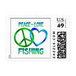 PESCA del amor de la paz Sello
