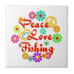 Pesca del amor de la paz tejas  ceramicas