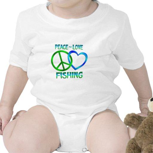 PESCA del amor de la paz Traje De Bebé