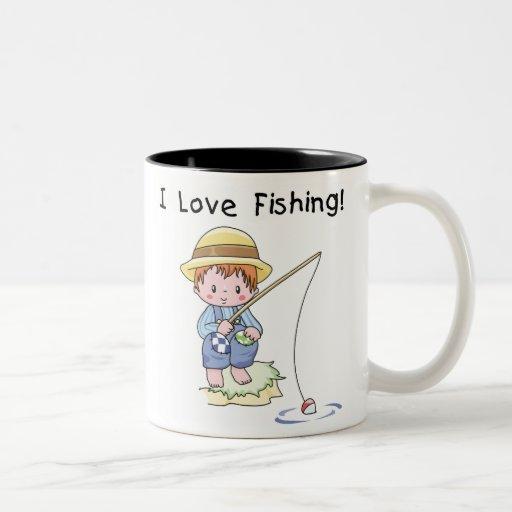 Pesca del amor de Little Boy I Taza De Dos Tonos