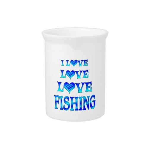 Pesca del amor del amor jarra de beber