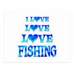 Pesca del amor del amor postal