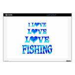 Pesca del amor del amor skins para 43,2cm portátil