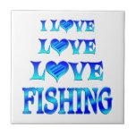 Pesca del amor del amor tejas  ceramicas