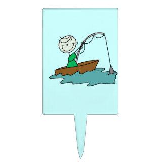 Pesca del barco figuras para tartas