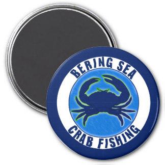 Pesca del cangrejo del mar de Bering Imán Redondo 7 Cm