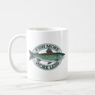 Pesca del carbón de leña taza de café
