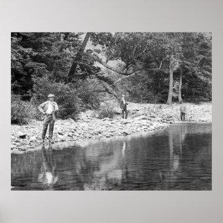 Pesca del Catskills 1890 Impresiones