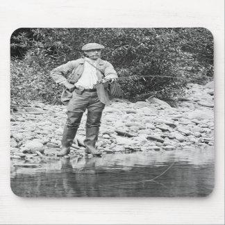 Pesca del Catskills 1890s Alfombrilla De Raton