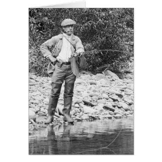 Pesca del Catskills 1890s Felicitacion