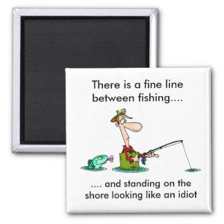 pesca del dibujo animado. imán cuadrado