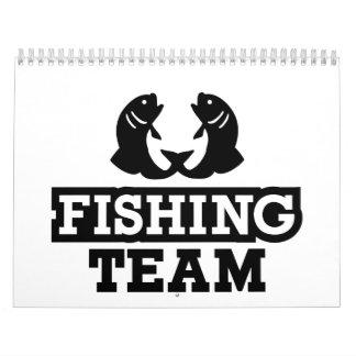 Pesca del equipo calendario de pared