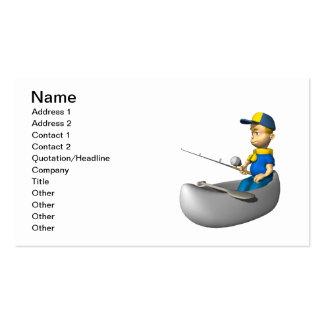 Pesca del explorador tarjetas de visita