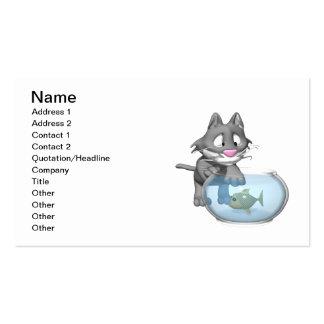 Pesca del gato tarjetas de visita