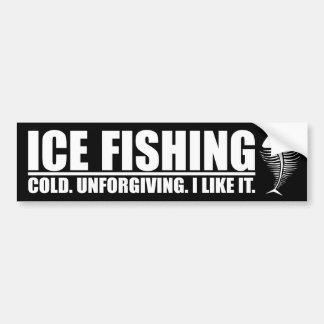 Pesca del hielo. Frío implacable Pegatina Para Auto