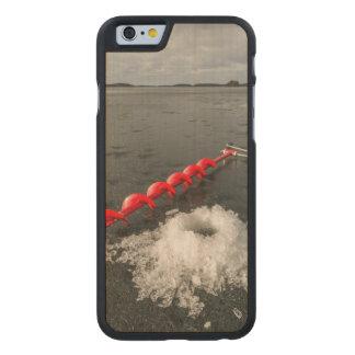 Pesca del hielo funda de iPhone 6 carved® de arce