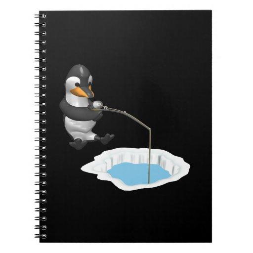 Pesca del hielo libros de apuntes con espiral